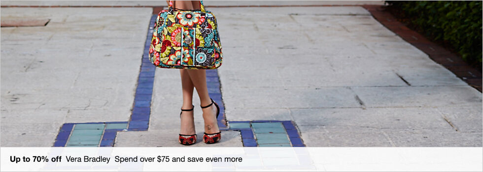 Up to 70% off Vera Bradley | Spend over $75 and save even more