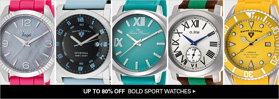UP TO 80% OFF BOLD SPORT WATCHES