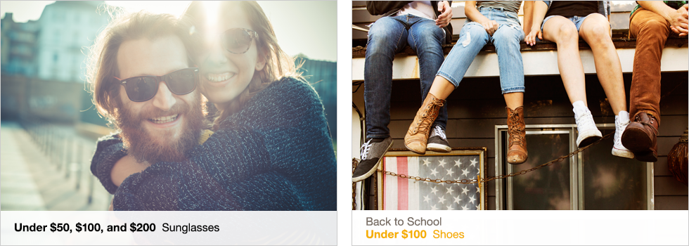 Under $50, $100, and $200 Sunglasses | Back to School | Under $100 Shoes | Shop now