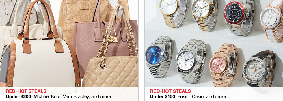 Red-Hot Steals | Under $200 Michael Kors, Vera Bradley, and more | Red-Hot Steals | Under $150 Fossil, Casio, and more