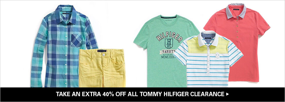 TAKE AN EXTRA 40% OFF ALL TOMMY HILFIGER CLEARANCE