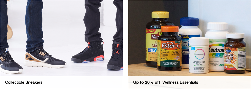 Collectible Sneakers | Up to 20% off Wellness Essentials