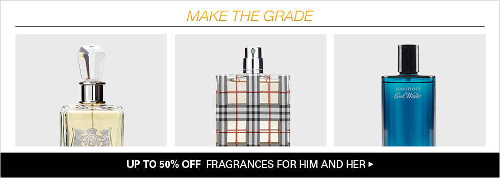 UP TO 50% OFF FRAGRANCES FOR HIM AND HER