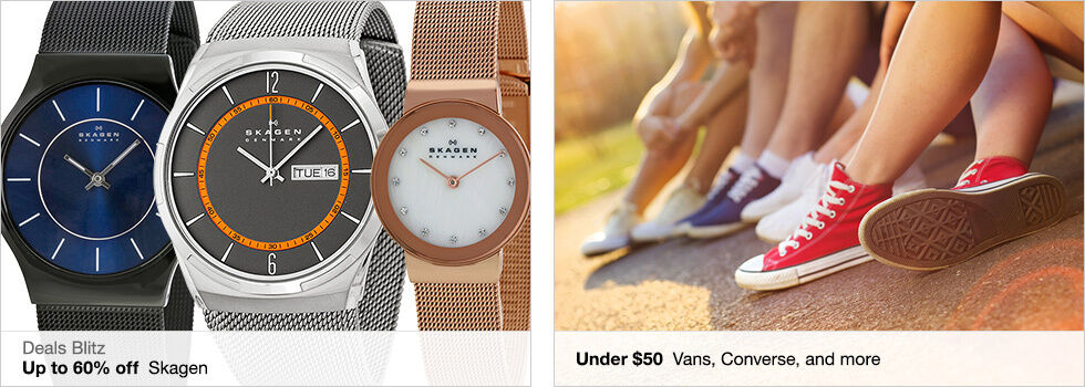 Deals Blitz | Up to 60% off Skagen | Under $50 Vans, Converse, and more | Shop now