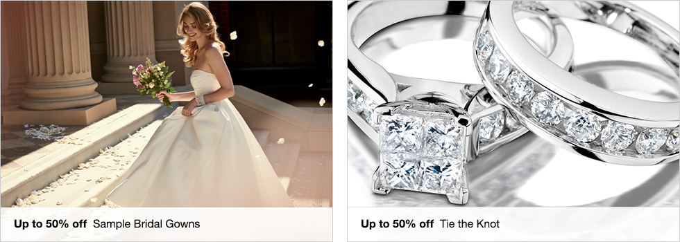Up to 50% off Sample Bridal Gowns | Up to 50% off Tie the Knot
