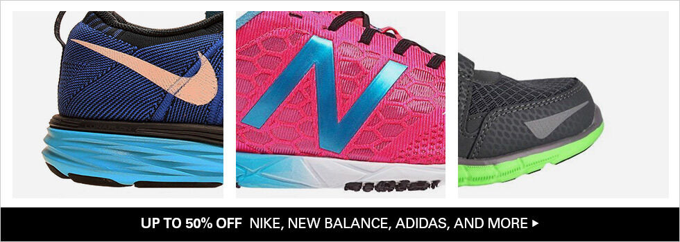 UP TO 50% OFF NIKE, NEW BALANCE, ADIDAS, AND MORE