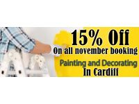 15% Discount for all PAINTING & DECORATING service In Cardiff. Quality work at affordable prices!!!