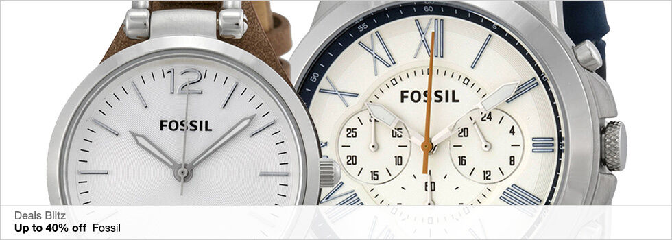 Deals Blitz | Up to 40% off Fossil | Shop now