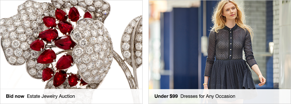 Bid now Estate Jewelry Auction | Under $99 Dresses for Any Occasion | Shop now