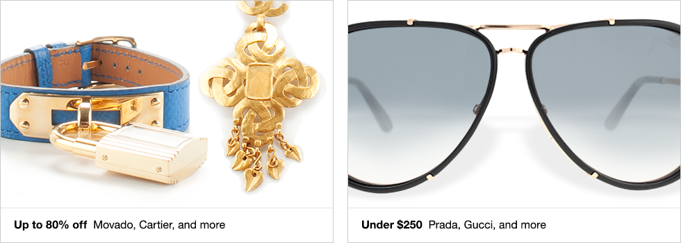 Up to 80% off Movado, Cartier, and more | Under $250 Prada, Gucci, and more