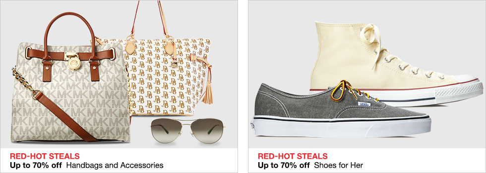 Red-Hot Steals | Up to 70% off Handbags and Accessories | Up to 70% off Shoes for Her