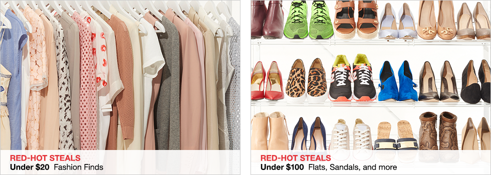 Red-Hot Steals | Under $20 Fashion Finds | Under $100 Flats, Sandals, and more