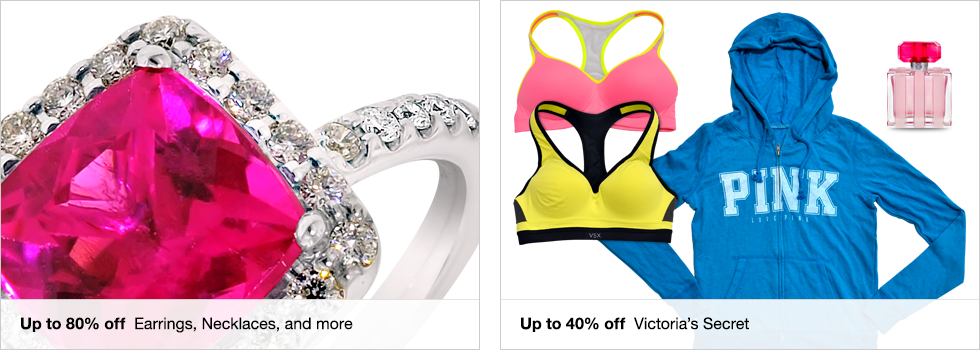 Up to 80% off Earrings, Necklaces, and more | Up to 40% off Victoria's Secret | Shop now