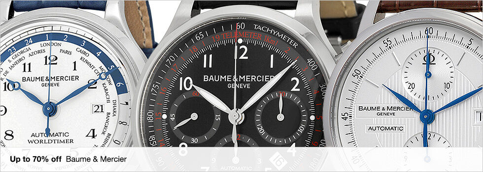 Up to 70% off Baume & Mercier