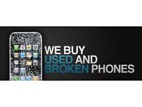 We pay cash for your iPhones, Samsunphones cracked screens or damaged