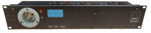 2U 20A L5-20 Duplex Edison 5-20R Power Distribution Box Pro Audio Video Lighting