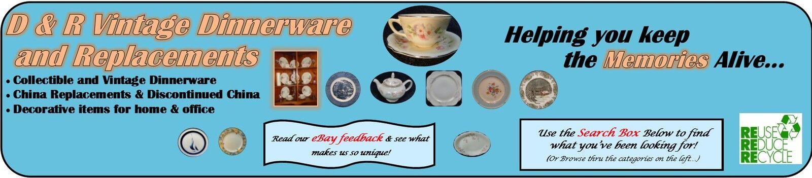 D&R Vintage Dinnerware Replacements