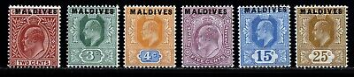 Maldive Islands (Maldives) 1906 MH set SG 1-6