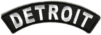 Iron Rocker - Detroit Rocker Iron On Patch - 4 x 1 inch Free Ship Biker Veteran Military P3609