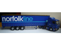 "Corgi 76402, Scania truck with trailor curtainside ""Norfolk Line"", 1:50"