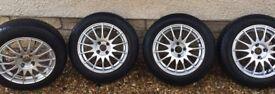 "4 x 15"" Alloy Wheels with Yokohama Winter Tyres"
