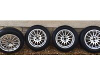 "4 x 15"" Alloy Wheels with Yokohama Winter Tyres"