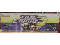 Time Crisis 3 twin coin op light box.