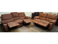 3 and 2 seater recliner Harveys sofas - chocolate. Can deliver