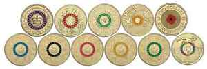 ALL 11 COLOURED $2 AUSTRALIAN COINS - ANZAC OLYMPIC PARALYMPIC POPPY CORONATION