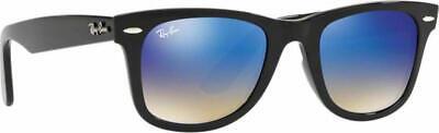 Authentic Ray-Ban WAYFARER EASE RB4340 601/4O 50mm Black / Blue Gradient Mirror