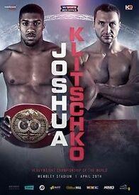 Tickets Anthony Joshua vs Wladimir Klitschko Boxing 29 April Wembley