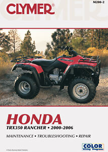 Clymer Repair Manual, Honda TRX350 Rancher 2000-2006