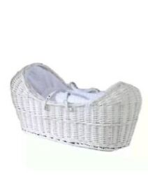 Brand New Wicker Izzy pod Moses basket and stand included (worth rrp£35 on it's own!)