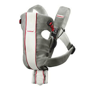 NEW-Baby-Bjorn-Baby-Carrier-Air-White-Gray-Red-Mesh-NEW-Not-in-Box-MSRP-115