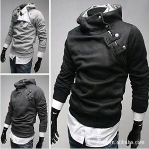 NEW-Mens-Slim-Fit-Sexy-Top-Designed-Hoodies-Top-Jackets-Coats-Sweatershirt-4SIZE