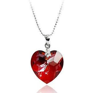 Swarovski heart necklace ebay swarovski red heart necklaces mozeypictures Choice Image