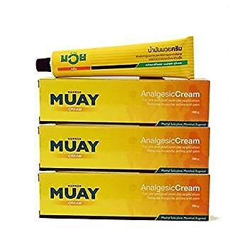 Namman Muay Thai Boxing Analgesic Cream 100g x 3 - Massage Muscular Pain Relief