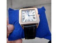 Cartier Santos xl 100 Watch Rose Gold