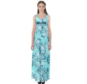 Get Tie Dye Empire Waist Maxi Dress