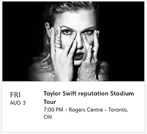 Taylor Swift Reputation Tour Tickets @ FACE VALUE