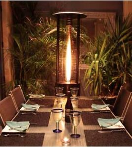 Fire Fountain White Outdoor Heater Lpg Natural Gas Patio Heater Flame Ebay