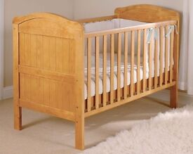 Wooden Cotbed with mattress