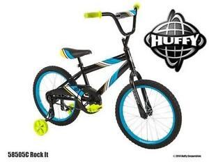 "NEW HUFFY BOYS 18"" BIKE - ROCK IT BOYS BIKE - 18 INCH BICYCLE 105877809"