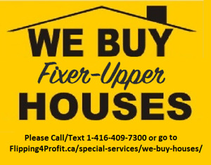 We buy Run Down/Fixer-Upper houses in Kenora