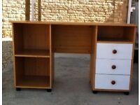 Beech/White desk