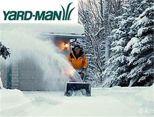 "USED* YARD-MAN 28"" SNOW THROWER 357CC GAS POWERED TWO STAGE SELF PROPELLED SNOW BLOWER W/ELECTRIC START 85348344"