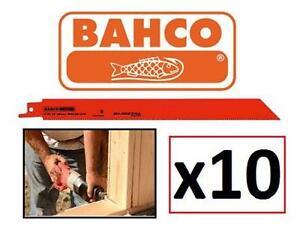 "NEW BAHCO 6"" BI-METAL BLADES 10PK RECIPROCATING SAW BLADES 18TPI Tools Home Improvement Power Hand Tools"