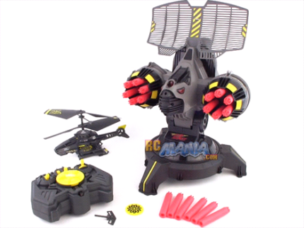 RC Air Hogs Battle Tracker turret helicopter targets missile