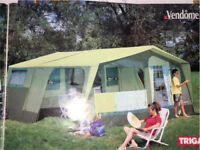 TRIGANO VENDOME LARGE TRAILER TENT SLEEPS 8 + DOUBLE PORCH AWNINGS - COST £4.5K+