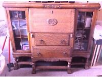 Vintage Light Oak Bureau purchased in Norfolk in 2016 but too large for new property.